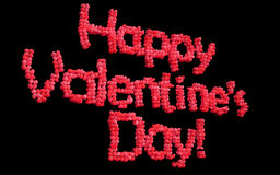 Happy Valentines Day balloons Royalty Free Stock Image
