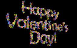 Happy Valentines Day balloons, multicolor. Stock Images