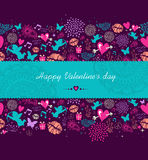 Happy Valentine`s day banner background Stock Photo