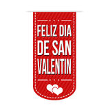 Happy valentine's day banner design Stock Images