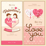 Happy Valentines Day banners collections Royalty Free Stock Photos