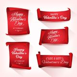 Happy Valentine`s Day Banners Royalty Free Stock Images