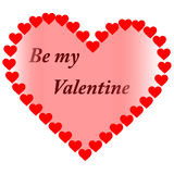 Happy Valentine´s Day. Be my Valentine and Happy Valentine´s Day Royalty Free Stock Photography
