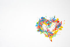 Happy Valentine`s day be my valentine. Heart.pencils Royalty Free Stock Images