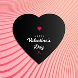 Happy Valentine`s Day with black love design stock photography