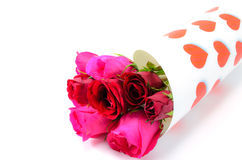 Happy Valentine's Day. A bouquet of roses for my Valentine Royalty Free Stock Photo