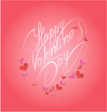 Happy Valentine`s Day. Calligraphic element, holiday card Royalty Free Stock Photos