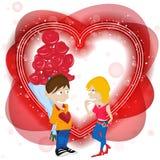Happy Valentine's Day Card. Royalty Free Stock Photo
