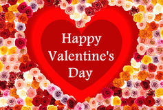 Happy valentine\'s day card Stock Photography