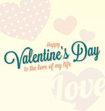 Happy Valentines Day Card. Vintage style happy Valentines Day card design Stock Image