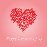 Happy Valentine's Day Card Royalty Free Stock Photo