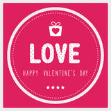 Happy valentine s day card3 Stock Images