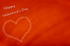 Happy valentine's day card. Happy valentine's day two sided greeting card with free space Royalty Free Stock Photos