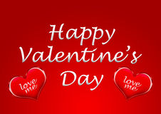 A happy valentine's day card background with heart Stock Photography