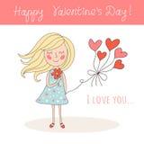 Happy Valentine`s Day card Stock Photo