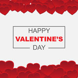 Happy valentine`s day card decoration Stock Photos