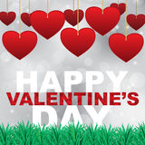Happy valentine`s day card decoration on white background Stock Images