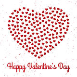 Happy Valentine`s Day Card Design Royalty Free Stock Image