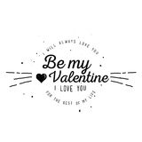 Happy Valentine`s Day Card Design Stock Photography