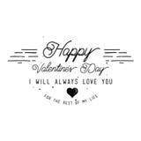 Happy Valentine`s Day Card Design Royalty Free Stock Photos