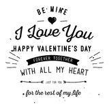 Happy Valentine`s Day Card Design Stock Images