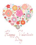 Happy Valentine`s day card Royalty Free Stock Photography