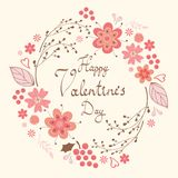 Happy Valentine`s day card Royalty Free Stock Image