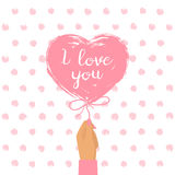Happy Valentine`s Day card Royalty Free Stock Images