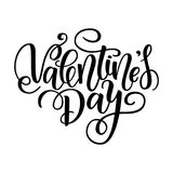 Happy Valentine's day  card. Greeting Card to Day of Saint Valentine. Vector illustration isolated on white. Cute hand-writ. Ten brush lettering. 14 february Stock Photos