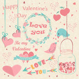 Happy Valentine's Day card Royalty Free Stock Image