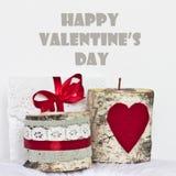 Happy Valentine's Day card. Happy Valentine's Day handmade card Royalty Free Stock Image