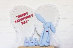 Happy Valentine's Day card. Happy Valentine's Day handmade card Stock Photos