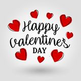 Happy Valentine`s Day - Card royalty free stock photo