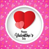 Happy Valentine`s Day Card. Happy Valentine`s Day on February 14 Card Background stock illustration