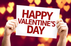 Happy Valentine's Day card with heart bokeh background Stock Image