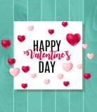 Happy Valentine s Day Card with Heart. Vector Illustration. EPS10 Stock Image
