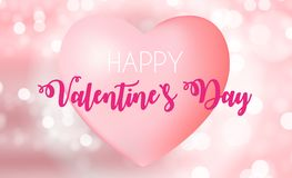 Happy Valentine s Day Card with Heart. Vector Illustration. EPS10 Stock Photography