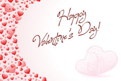 Happy Valentine's Day Card with Hearts Royalty Free Stock Image