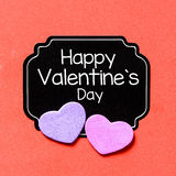 Happy Valentine's day card Royalty Free Stock Photos