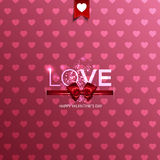 Happy Valentine's Day card with hearts Stock Photo
