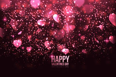 Happy Valentine's Day card with hearts Royalty Free Stock Photos
