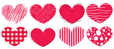 Happy Valentine's day card hearts greeting card Royalty Free Stock Images