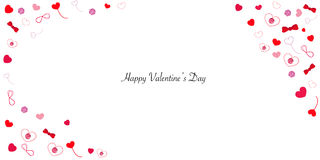 Happy Valentine's day card hearts greeting card Royalty Free Stock Image