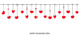 Happy Valentine's day card hearts greeting card Royalty Free Stock Photography