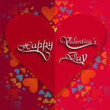 Happy Valentines day card hearts with lettering te Stock Image