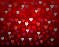 Happy Valentine's day card hearts light Stock Image