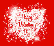 Happy Valentine's day card hearts light vector Royalty Free Stock Photography