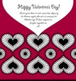 Happy Valentine's day card with lace hearts Royalty Free Stock Photography
