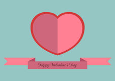 Happy Valentine's Day. Card , a love letter for Valentine's Day Stock Photos