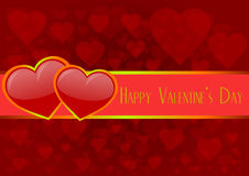 Happy valentine's day 3. Card, a love letter for Valentines Day Royalty Free Stock Images